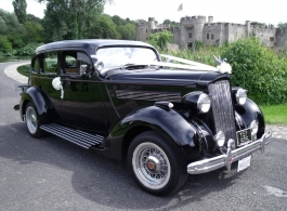 Vintage 1936 Packard Sedan for weddings in Rochester, Kent