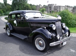 Vintage 1936 Packard Sedan for weddings in Rochester, Kent