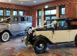 Vintage 1930s wedding car hire in Godalming