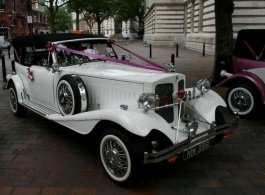 Vintage style Beauford for weddings in Goodwood
