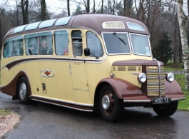 Vintage wedding bus in Winchester