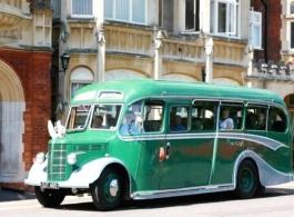 Vintage wedding bus in Huntingdon