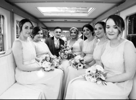 Bridesmaids bus for weddings in Bedford