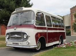 Vintage wedding bus for hire in Brighton