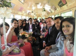 Single deck vintage bus for weddings in Guildford