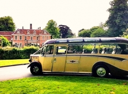 Vintage wedding bus in Winchester