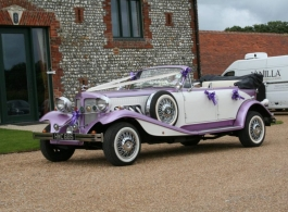 Vintage wedding car in Chichester