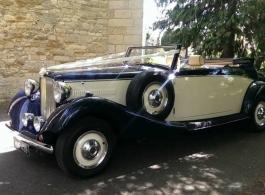 Jaguar drophead for weddings in Ascot