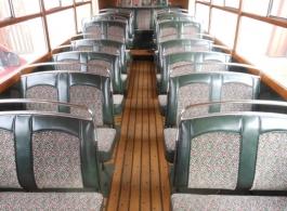 Cream vintage bus for weddings in Somerset