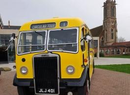 Vintage wedding bus hire in Birmingham