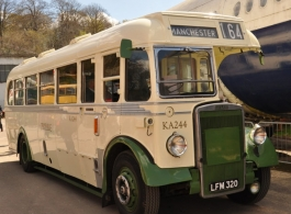 Single deck vintage bus for weddings in Exeter