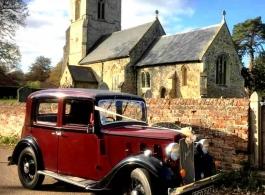 Vintage Austin 10 for weddings in Bedford