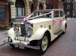 Rolls Royce wedding car hire in Tonbridge