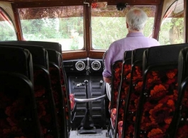 Vintage wedding bus for hire in Camberley