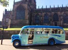 Vintage Bedford bus for weddings in Mansfield