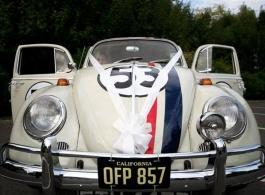 VW Herbie Beetle wedding car in Winchester
