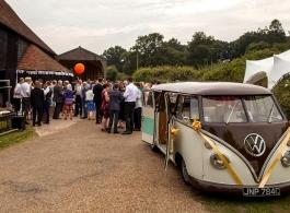 VW Campervan for weddings in Worthing