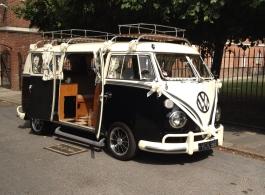VW Camper wedding vehicle in Portsmouth