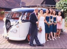 Splitscreen VW Campervan for weddings in Silverstone