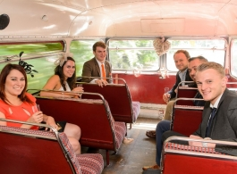 Red Routemaster wedding bus hire in Cardiff