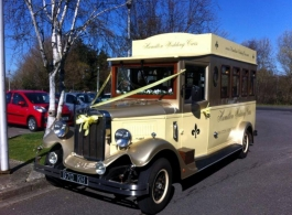 Vintage style bus for weddings in Portsmouth