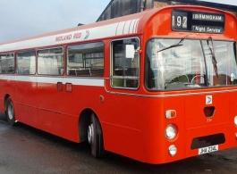 Single deck wedding bus hire in Kidderminster