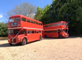 Traditional Red London Bus for wedding hire in Windsor
