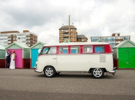 Classic VW Campervan wedding hire in Crawley