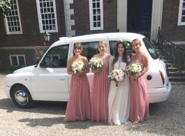 White Taxi for weddings in Canterbury