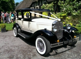 Vintage style wedding car in Basingstoke