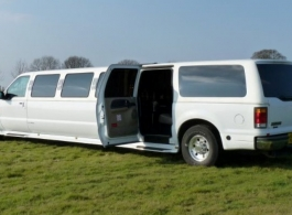 White Limousine for weddings in Canterbury