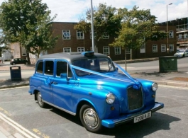 Blue London Cab for weddings in Fareham