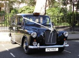 Black London Cab for weddings in Romford