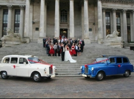 Classic London Taxis for weddings in Portsmouth