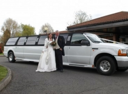 14 seat Limousine for weddings in Newport, Gwent