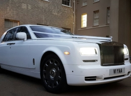 Rolls Royce Phantom wedding car in London