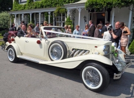 White Beauford wedding car hire in Manchester