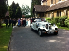 White Beauford wedding car in Southampton