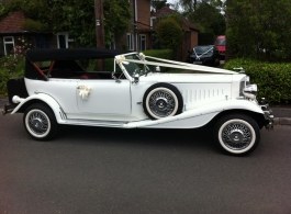 White Beauford wedding car in Gosport