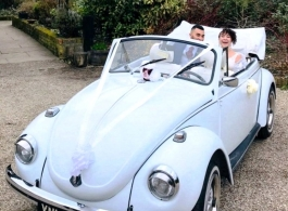 VW Beetle wedding car in Brentwood