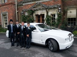 White Bentley for wedding hire in Winchester