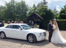 White Chrysler wedding car hire in London