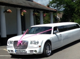 White Chrysler Limousine for weddings in London