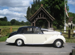1953 Bentley for weddings in Southampton