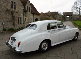 White Rolls Royce for weddings in Bromley