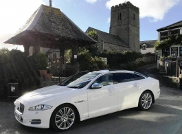 Jaguar XJ wedding car in Westward Ho