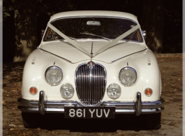 Classic MK2 Jag wedding car in Wilmslow