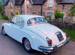 Classic Jaguar for weddings in Cardiff