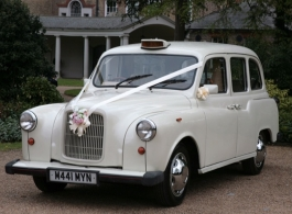 White wedding taxi for hire in London