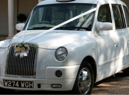 White Taxi for weddings in London